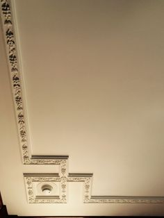 Eastman house Eastman House, Stencil Painting, Crown Molding, Tile Floor, Stencils, Tiles, Ceiling, Flooring, Luxury