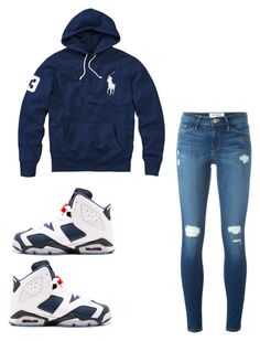 """""""Untitled #966"""" by tanasia2266 ❤ liked on Polyvore featuring Polo Ralph Lauren and Frame Denim"""