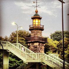 Jotomyodai lighthouse on Kudanzaka, Tokyo, built 1871.