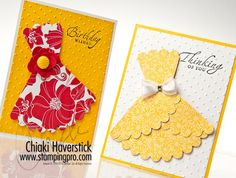 Scalloped Circle Dress Cards...cool made with the scallop punch