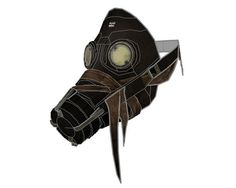 Dishonored - Life Size Assassins (Whalers) Mask Papercraft Free Template Download