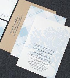 Amanda Wedding Invitation  Recycled Tree