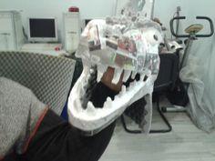 Halloween DIY T-rex costume head