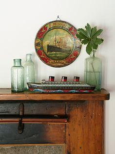 Tin Souvenirs beach ocean seaside lake bay cottage vintage cabin bungalow decor