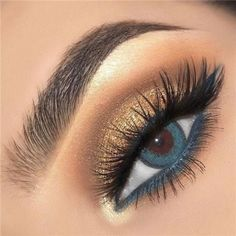 Make Up - 14 Shimmer Eye Makeup Ideas for Stunning Eyes - Double The Eyeliner Simple Eye Makeup, Natural Eye Makeup, Eye Makeup Tips, Makeup Goals, Makeup Inspo, Beauty Makeup, Makeup Ideas, Makeup Hacks, Makeup Products