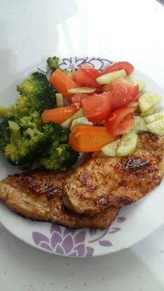 Mézes mustáros csirkemell Banting Recipes, Light Recipes, Food And Drink, Menu, Chicken, Kitchen, Diet, Skinny Recipes, Menu Board Design