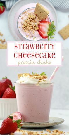 Delicious and healthy smoothie shake that tastes like dessert - with 19 grams of protein per serving!