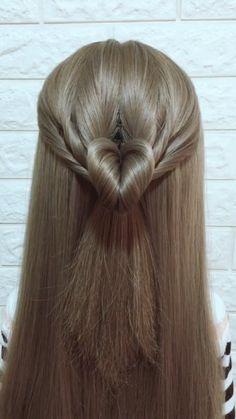 styles for long hair length easy videos Hairstyle Tutorial 879 Fancy Hairstyles, Girl Hairstyles, Braided Hairstyles, Hairstyles Videos, Easy Hairstyle Video, Hair Upstyles, Grunge Hair, Hair Videos, Hair Designs