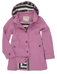 Hatley Girls Classic Splash Jacket Orchard Lily