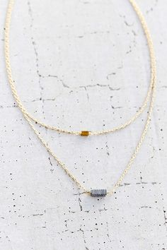 Industrial Bar High/Low Necklace - Urban Outfitters