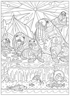 Creative Haven Fanciful Sea Life Coloring Book Cleverpedia Adult Page
