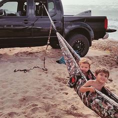 to these two for starting the #hammocklife off young! PC: @alohaexchange #grandtrunking #hanganywhere