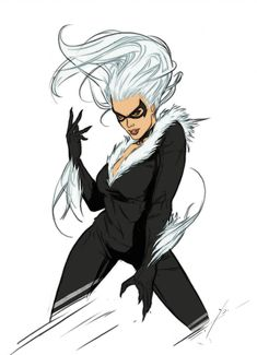 Black Cat by Yama Orce Spiderman Black Cat, Black Cat Marvel, Comic Book Characters, Comic Books, Dc Comics, Squirrel Girl, Superhero Villains, Cat Character, Character Ideas