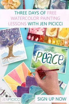 Are you just getting back into the creative swing of things? Picking up your paint brush after a long time away? Then these free beginner watercolor art lessons are for you! Get watercolor painting tutorials from artist Jen Picicci in this free three day challenge. Watercolor Art Lessons, Painting Lessons, Watercolor Paintings, Play To Learn, Learn To Paint, Plate Art, Painting Tutorials, Tapestries, Challenge
