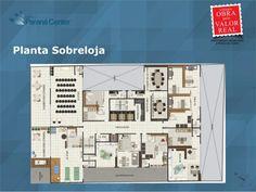 Planta Sobreloja. Projeto Edifício Paraná Center. Av. Paraná, 4751 - Santa Cândida, Curitiba - PR.