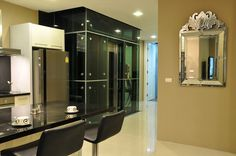 Wong Amat Tower (Two Bedroom) Living Room Night Time view by Heights Holdings