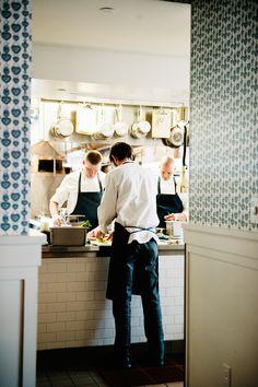 Minneapolis: Bachelor Farmer shot by Ashley Camper Restaurant Marketing, Cafe Restaurant, Restaurant Design, Cafe Bistro, Cafe Bar, Cafe Uniform, Restaurant Uniforms, Kinfolk Magazine, Kitchen Wall Tiles