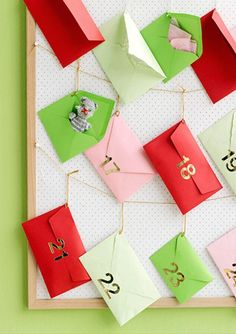 Count down to Christmas with a stylish Advent calendar.