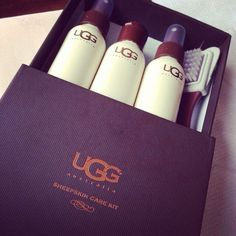 UGG Boot cleaner kit.. if you have legit UGGs, this really works, I BOUGHT ONE and totally worth it!