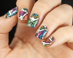 Holographic Butterfly Stamping Decals