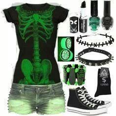 A fashion look from September 2013 featuring Frankie B. shorts and Converse sneakers. Browse and shop related looks. Dark Fashion, Emo Fashion, Gothic Fashion, Womens Fashion, Lolita Fashion, Skull Fashion, 1950s Fashion, Style Emo, My Style