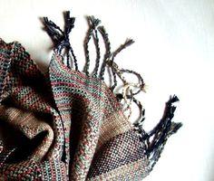 Handgewebter Schal / Schal Schal Seide Unique Beige von PenelopeNow