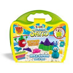 CRAZE Magic Sand homokgyurma - Mega-Koffer készlet 700 g Magic Sand, Templates, Briefcases, Toys, Accessories, Colors, Suitcase, Cloud Dough