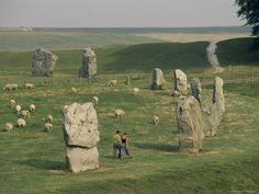 Avebury - England - Better than Stonehenge because you can get really close to them.