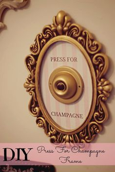 Sequins and Scissors: DIY Press for Champagne Frame