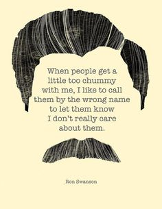 Ron Swanson on People  Illustrated Original Print by hazelvaranese, $15.00