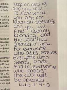 Luke 11:9-10❤️ #God #Jesus #bible #biblestudy #truth #life #love #peace #theword