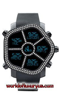 Jacob and Co Ghost Digital, 300.100.11.RT.MB.4NS unisex watch features 47 mm Stainless Steel case, Black PVD Bezel with two row of White Diamonds 1.74ct. dial - See more at: http://www.worldofluxuryus.com/watches/Jacob-and-Co/Ghost-Digital/300.100.11.RT.MB.4NS/328_779_6136.php#sthash.piYTo9L1.dpuf