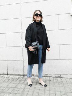 Trini   Isabel Marant coat - Chanel flats - Chanel bag - Topshop jeans