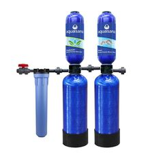 Aquasana Whole House 10 Year Water Filtration System with Simply Soft Salt-Free Whole House Water Softener-THD-1000-BUNDLE - The Home Depot