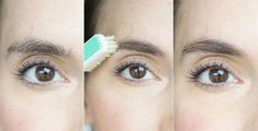 Tame unruly brows by brushing them into place with a toothbrush. #EyelashExtensionsAftercare