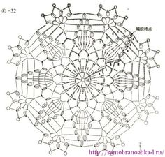 #32_SNOWFLAKES or lacy crochet doily motifs.
