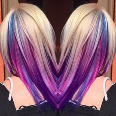 Makeup, Beauty, Hair & Skin   Trick Your Conservative Office With This Underlights Rainbow Hair Trend   POPSUGAR Beauty