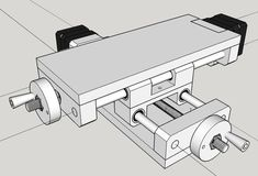 linear slide, xy table For building small plotters, cnc mills, PCB mills or - veganfunnelcake Diy Cnc, Diy Lathe, Lathe Tools, Metal Tools, Wood Tools, Diy Tools, Cnc Table, Arduino Cnc, Cnc Plans