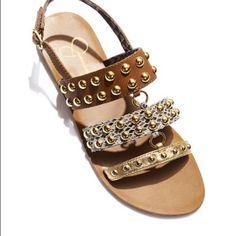 """Jessica Simpson sandals Fun and Flirty Sandals By Jessica Simpson,Playful and Colorful Detailing,Multiple Straps,Adjustable Strap,Jessica Simpson Printed On Footbed,Open Toe,Studded Detailing,1/4"""" Heel in great condition wore around twice Jessica Simpson Shoes Sandals"""