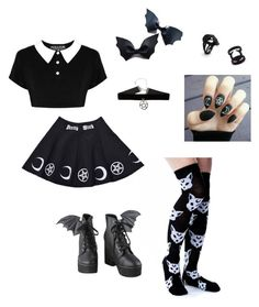 """""""Little witch"""" by barnowlkitten on Polyvore featuring Killstar, Iron Fist, witch, ddlg and witchy"""