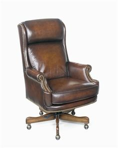 Seven Seas Seating Maximilian Leather Executive Chair Upholstery: James River Walnut