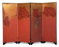 Jean Dunand Monkeys lacquered screen - ca. 1926 http://thecoincidentaldandy.blogspot.fr/2010/12/decorative-lacquerware-art-of-jean.html