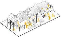 Objets Design Urbanisme — Atelier UOA Plan Concept Architecture, Architecture Graphics, Futuristic Architecture, Facade Architecture, Presentation Board Design, Paris 13, Urban Intervention, Architecture Visualization, Landscape Design