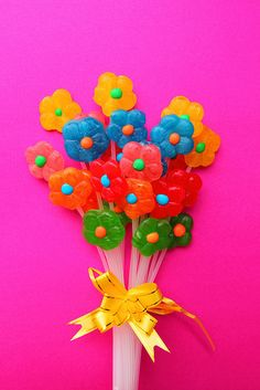 Why not give a candy bouquet to your loved one?