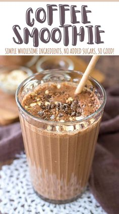 Thick and creamy, with a coffee kick, this Coffee Smoothie will surely energize you. It's packed with natural sweetness, hearty oats, and dark chocolate flavor. It's also easy to make with only 7 simple ingredients and has no added sugars. Filling, healthy and so delicious! ---- #smoothie #healthysmoothie #smoothietime #smoothierecipes #smoothielove #coffee #coffeesmoothie #recipes #healthyrecipes #breakfast #breakfasttime #breakfastideas Coffee Breakfast Smoothie, Coffee Smoothie Recipes, Oat Smoothie, Coffee Recipes, Healthy Coffee Smoothie, Smoothie With Coffee, Drink Recipes, Healthy Smoothie Recipes, Chocolate Smoothie Recipes
