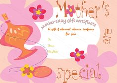 Five Petals Mother's Day Gift Certificate Template