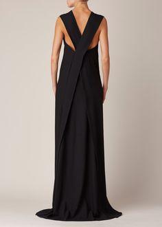 Totokaelo - Ann Demeulemeester Black Lightlaine Dress