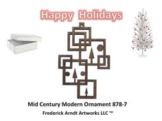 8787 Mid Century Modern Ornament by FredArndtArtworks on Etsy, $14.95