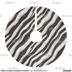 Zebra stripes seamless texture + your ideas brushed polyester tree skirt