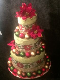 Christmas Towel Cake by TheConnerGirls on Etsy